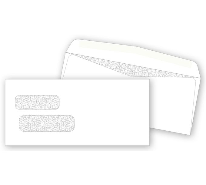 9304-Double Window Confidential Envelope9304