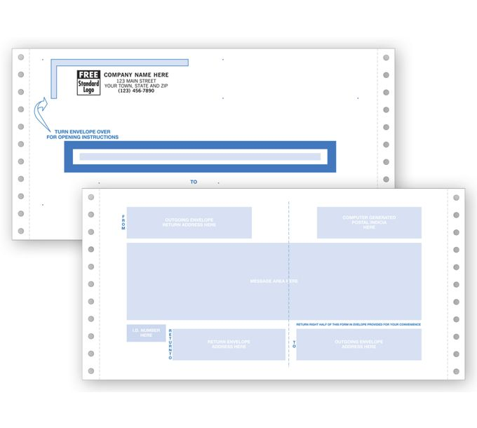 Self-Mailers, Continuous, Two-Way9660