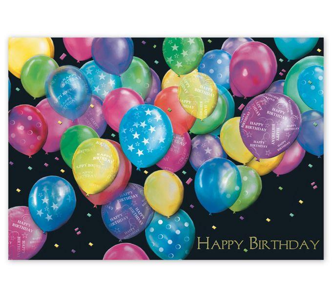Balloon Bunch of Wishes Happy Birthday CardsA2907BD