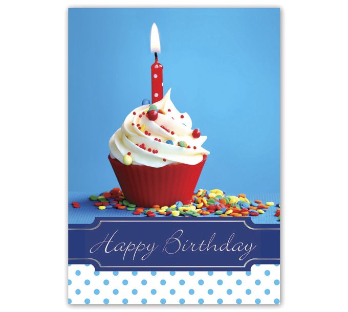 Happy Birthday Cupcake Birthday CardsA4903BD