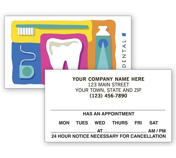 AC899-Dental 2 Sided Appointment Cards, Dental Reminder DesignAC899