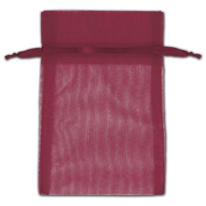 "Burgundy Organza Bags, 4 x 6"""