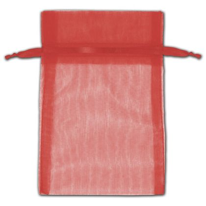 """Red Organza Bags, 4 x 6"""""""