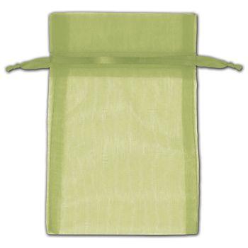 Moss Organza Bags, 4 x 6