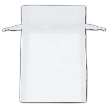 White Organza Bags, 4 x 6