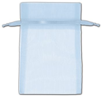 Light Blue Organza Bags, 4 x 6