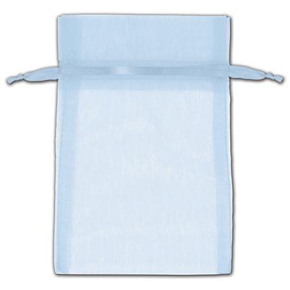 "Light Blue Organza Bags, 4 x 6"""