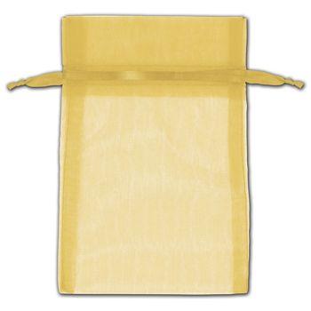 Gold Organza Bags, 4 x 6