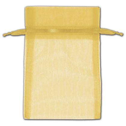"Gold Organza Bags, 4 x 6"""