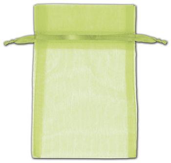Mint Green Organza Bags, 4 x 6