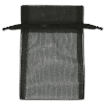 Black Organza Bags, 4 x 6