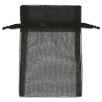 "Black Organza Bags, 4 x 6"""