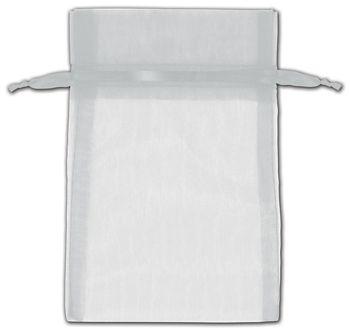 Silver Organza Bags, 4 x 6