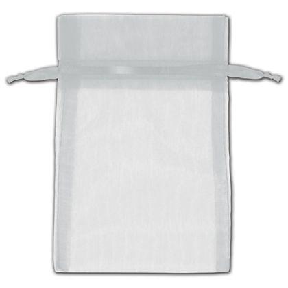"Silver Organza Bags, 4 x 6"""