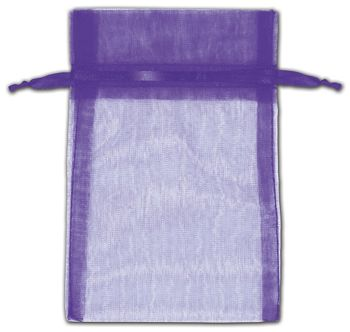 Purple Organza Bags, 4 x 6