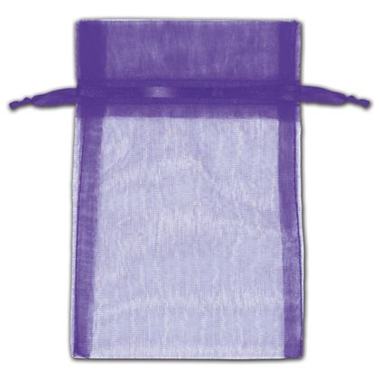 Purple Organza Bags, 4 x 6""