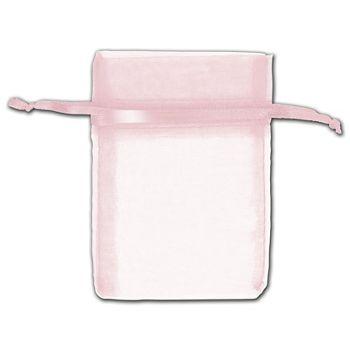 Pink Organza Bags, 3 x 4