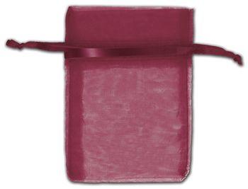 Burgundy Organza Bags, 3 x 4