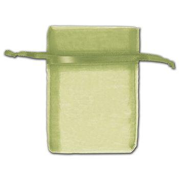 Moss Organza Bags, 3 x 4