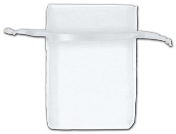 White Organza Bags, 3 x 4