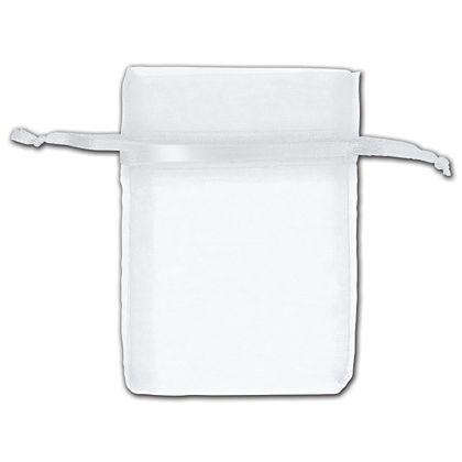 "White Organza Bags, 3 x 4"""