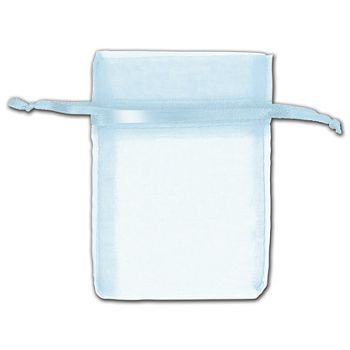 Light Blue Organza Bags, 3 x 4