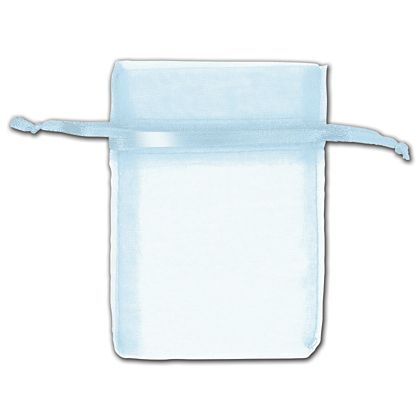 Light Blue Organza Bags, 3 x 4""