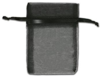 Black Organza Bags, 3 x 4