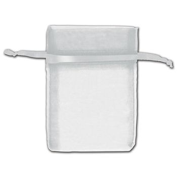 Silver Organza Bags, 3 x 4