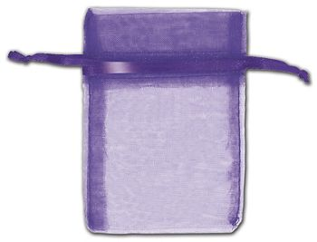 Purple Organza Bags, 3 x 4