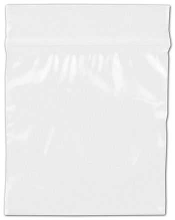 Clear Reclosable Polyethylene Bags, 2 Mil,  2 x 2