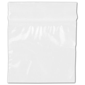Clear Reclosable Polyethylene Bags, 2 Mil,  3 x 3