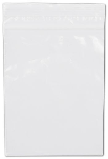 Clear Reclosable Polyethylene Bags, 2 Mil,  3 x 4
