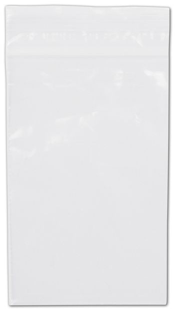 Clear Reclosable Polyethylene Bags, 2 Mil,  3 x 5