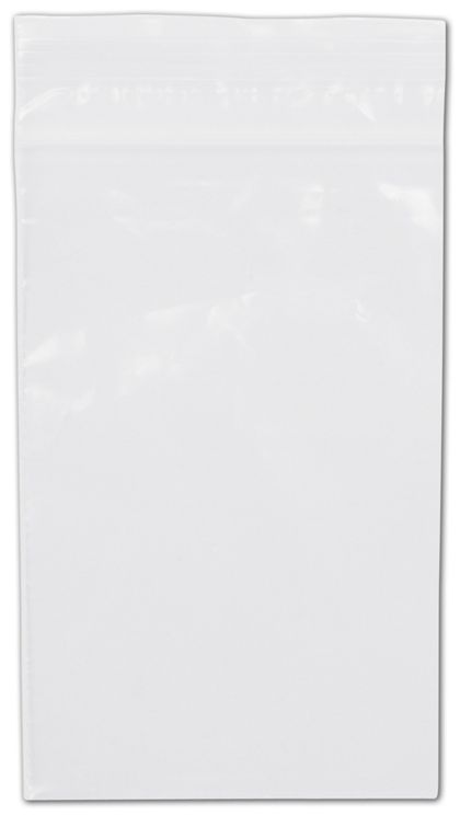 Clear Reclosable Polyethylene Bags, 2 Mil,  3 x 5""