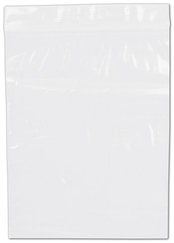 Clear Reclosable Polyethylene Bags, 2 Mil,  6 x 8