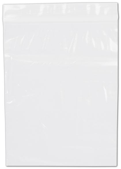 Clear Reclosable Polyethylene Bags, 2 Mil,  6 x 8""