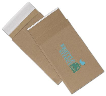 Natural Kraft Printed Eco-Mailers, 2 Colors, 6 x 10""