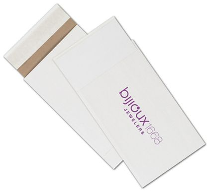 White Printed Eco-Mailers, 1 Color, 6 x 10""