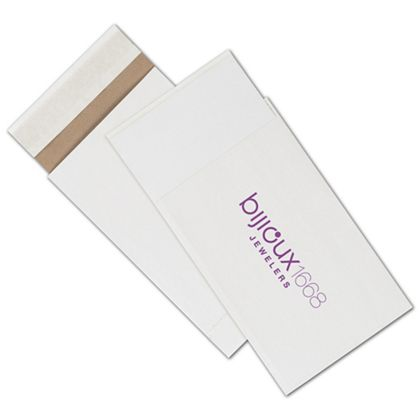 """White Printed Eco-Mailers, 1 Color, 6 x 10"""""""