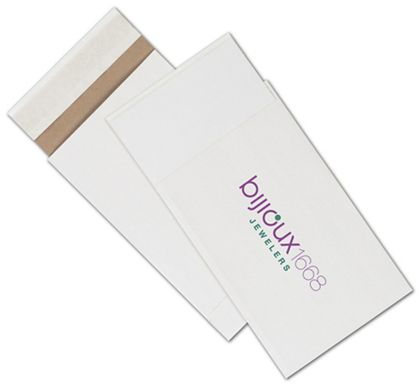 White Printed Eco-Mailers, 2 Colors, 6 x 10""