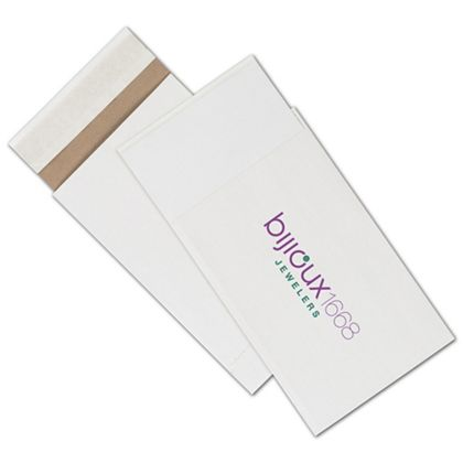 """White Printed Eco-Mailers, 2 Colors, 6 x 10"""""""