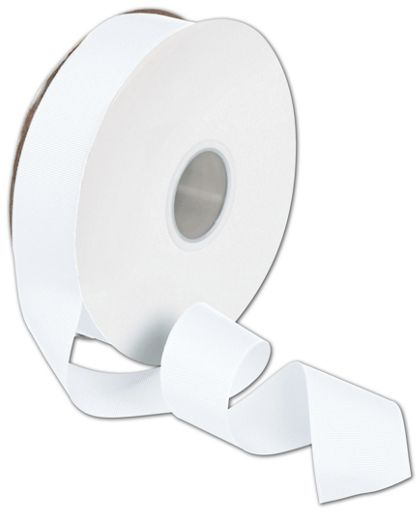 "Grosgrain White Ribbon, 1 1/2"" x 50 Yds"