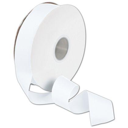 """Grosgrain White Ribbon, 1 1/2"""" x 50 Yds"""