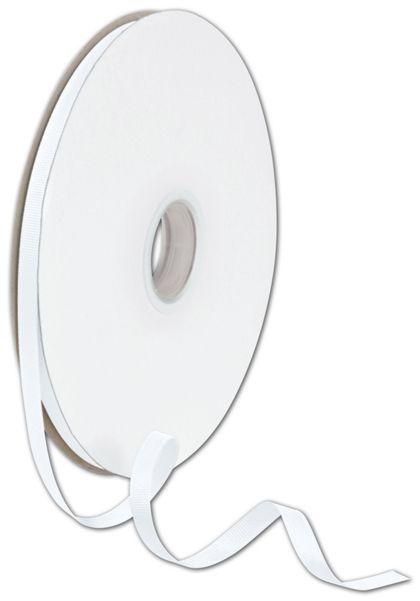 """Grosgrain White Ribbon, 3/8"""" x 100 Yds"""