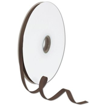 Grosgrain Chocolate Ribbon, 3/8