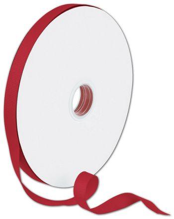 Grosgrain Red Ribbon, 5/8