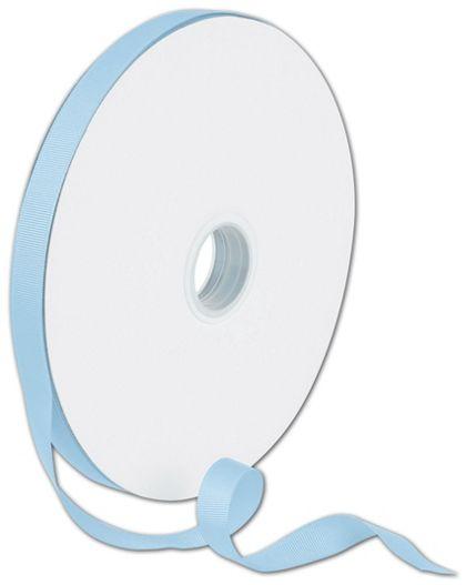 """Grosgrain Light Blue Ribbon, 5/8"""" x 100 Yds"""