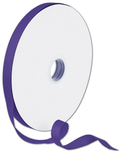 """Grosgrain Purple Ribbon, 5/8"""" x 100 Yds"""