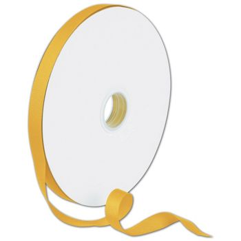 Grosgrain Gold Ribbon, 5/8